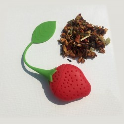 Infuseur fraise silicone
